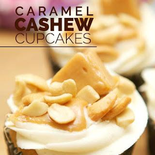 Caramel Cashew Cupcakes