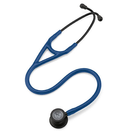 Littmann Cardiology IV Stetoskop Black Finish Chestpiece-Navy Blue Tube
