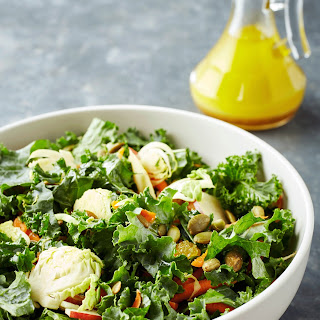 Kale Salad with Brussels and Apples.
