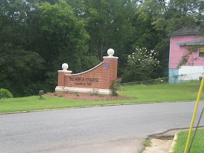 Photo: front sign of Talladega College