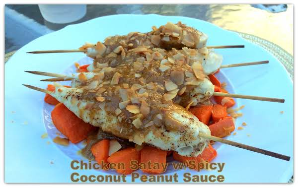 Chicken Satay W/spicy Coconut Peanut Sauce