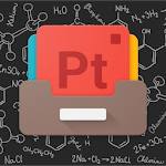Periodic Table 2018. Chemistry in your pocket. Icon
