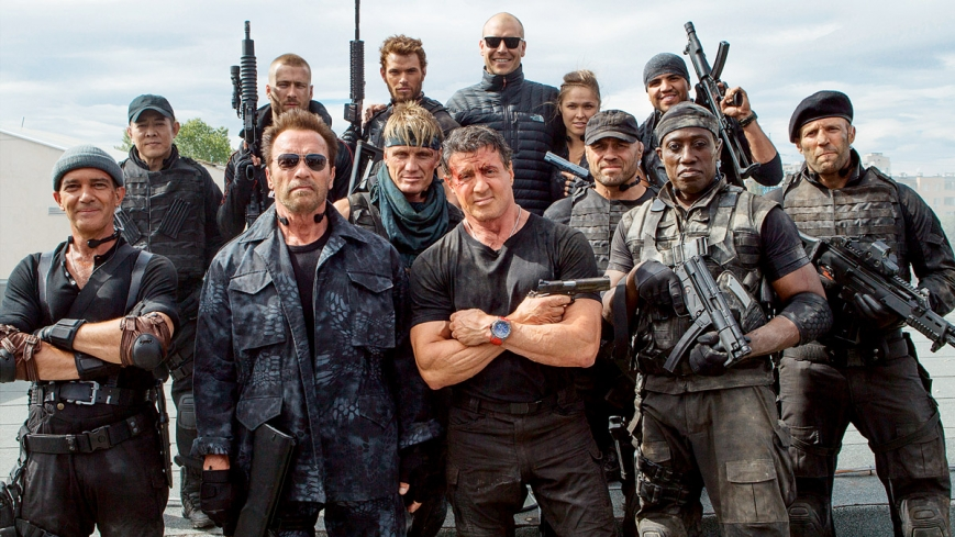 l'ancienne génération des héros de films d'action
