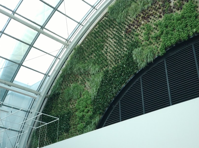 jardín vertical en Barcelona en el cc diagonal mar