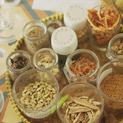 Spices and herbs for jamu