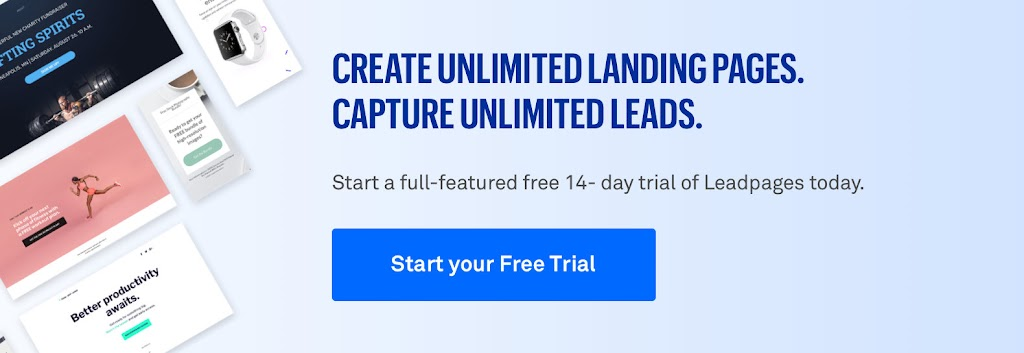 start a leadpages free trial