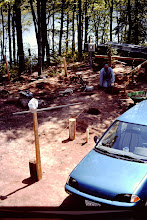 Photo: aerial view of cabin site