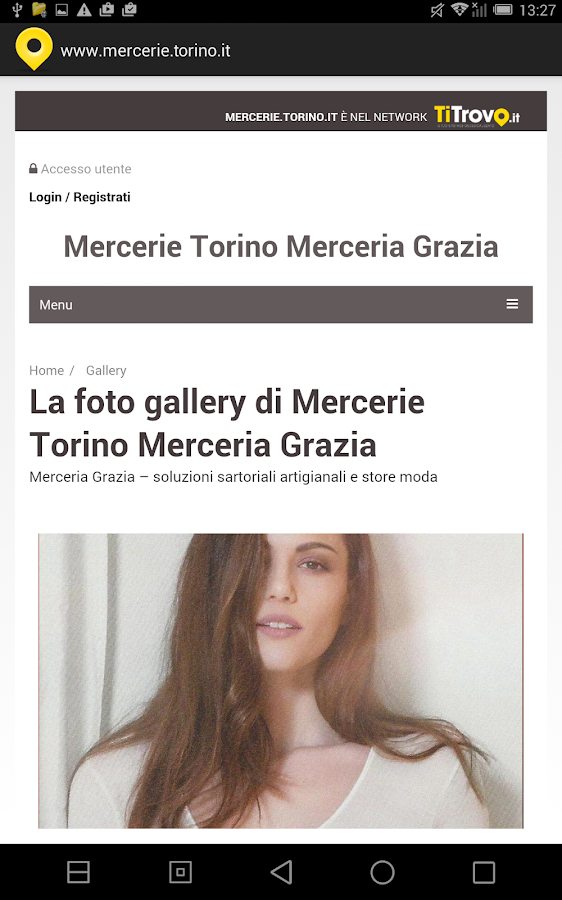 Mercerie Torino- screenshot