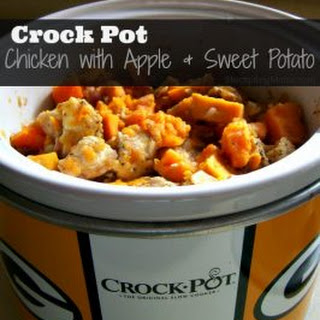 Crockpot Chicken with Apple and Sweet Potato
