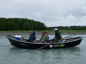 Photo: Jeremy Anderson of Alaska Drift Away Fishing waiting for the incoming tide on the Kasilof river.