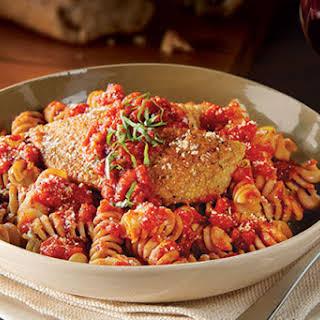 Easy Parmesan-Garlic Chicken and Pasta.