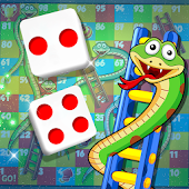 Snakes & Ladders Game - Glow & Neon
