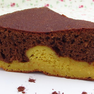 Chocolate Mango Cake.