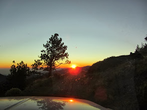Photo: Driving into the sunset on Blue Ridge Road after a great day of hiking  Read about it in my blog: http://danshikingblog.blogspot.com/2011/10/pine-mt-and-dawson-peak-hike-october-29.html