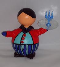 """Photo: """"Kerst Butler""""  blauw/rood"""