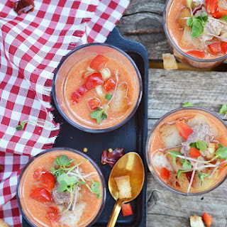 Gazpacho Andaluz Recipe (Spanish Cold Tomato Soup).
