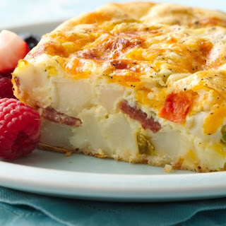 Cheddar and Potatoes Breakfast Bake.