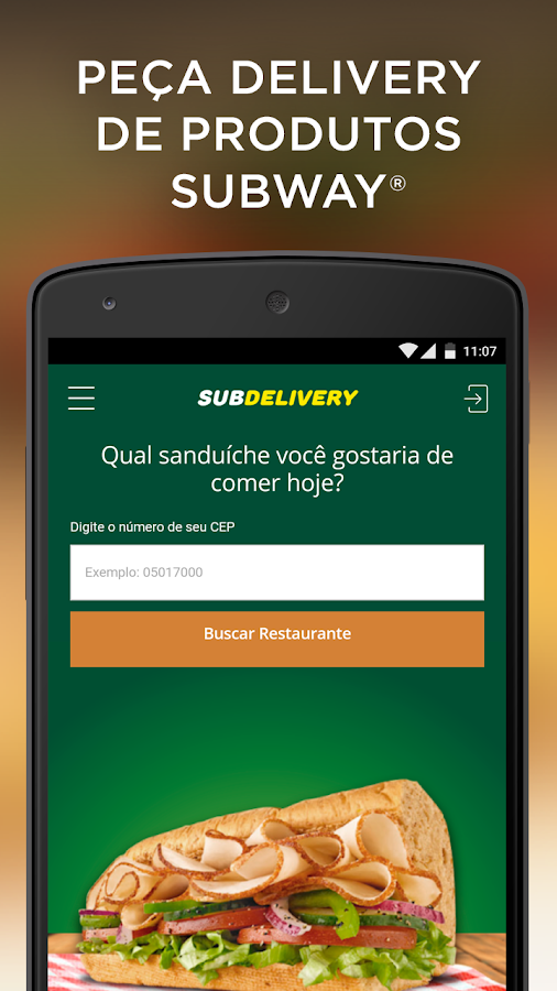 Subdelivery - SUBWAY® Brasil- screenshot