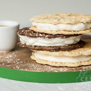 Little Gina's Pizzelle Ice Cream Sandwich