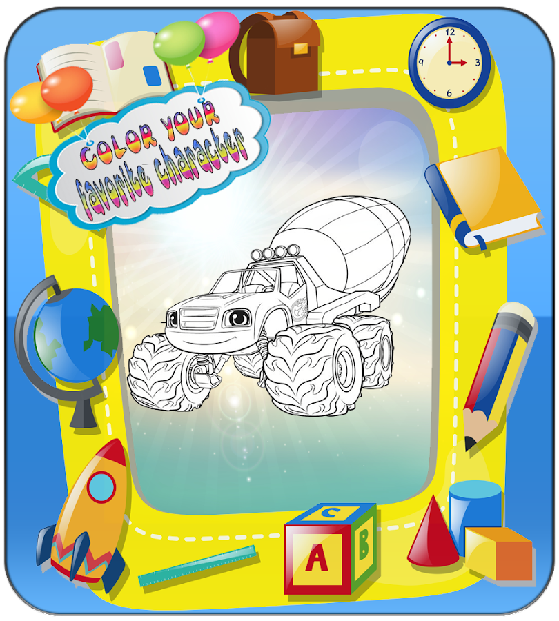 How To Color Blaze Monstere Machine Game Isithombe Skrini