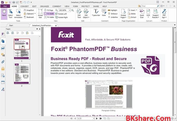 Download Foxit PhantomPDF Business v7.2 Patch - Phần mềm biên tập file PDF chuyên nghiệp