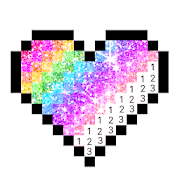 Daily Pixel - Color by Number, Happy Pixel Art