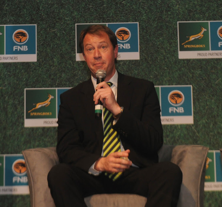 Jurie Roux SARU CEO during the SARU Sponsor Announcement on the 07 August 2017 at La Toscana, Johannesburg.