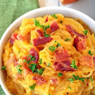 Spaghetti Squash w/ Creamy Butternut Sage Sauce.