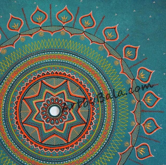 Henna style mandala painting
