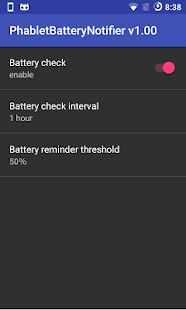 Phablet Battery Notifier- screenshot thumbnail