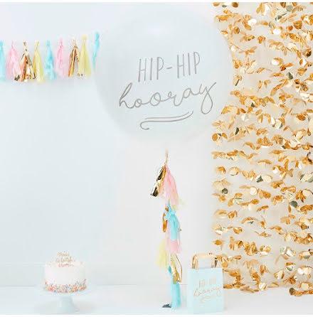 Jätteballong med tassel - Pick & Mix pastell