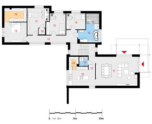 Flexus I G2 - Rzut piętra