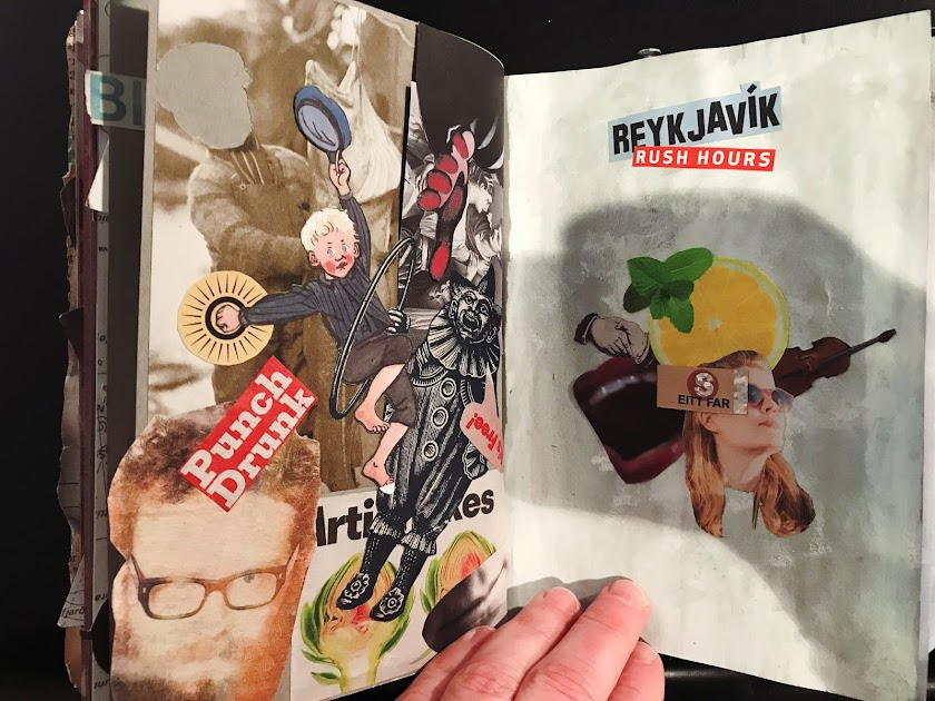 a spread from Jeff Katz's sketchbook in Iceland