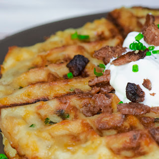 Cheesy Mashed Potato Waffles Recipe