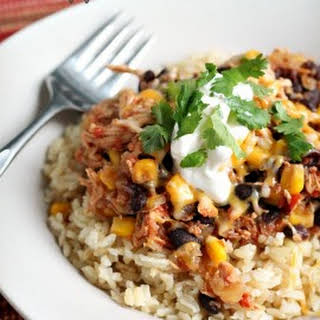 Slow Cooker Pineapple Salsa Chicken aka Mexican Delight.