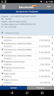Bancolombia App Empresas - náhled