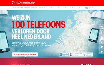 Photo: Site of the Day 28 November 2012 http://www.awwwards.com/web-design-awards/vodafone-lost-phones-experiment