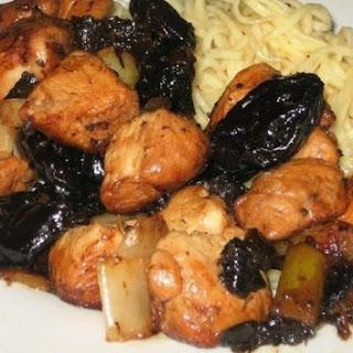 Chicken Braised With Prunes
