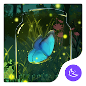 Green glitter firefly forest APUS stylish theme
