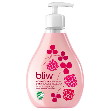 Pumptvål Bliw Rödhallon 300ml