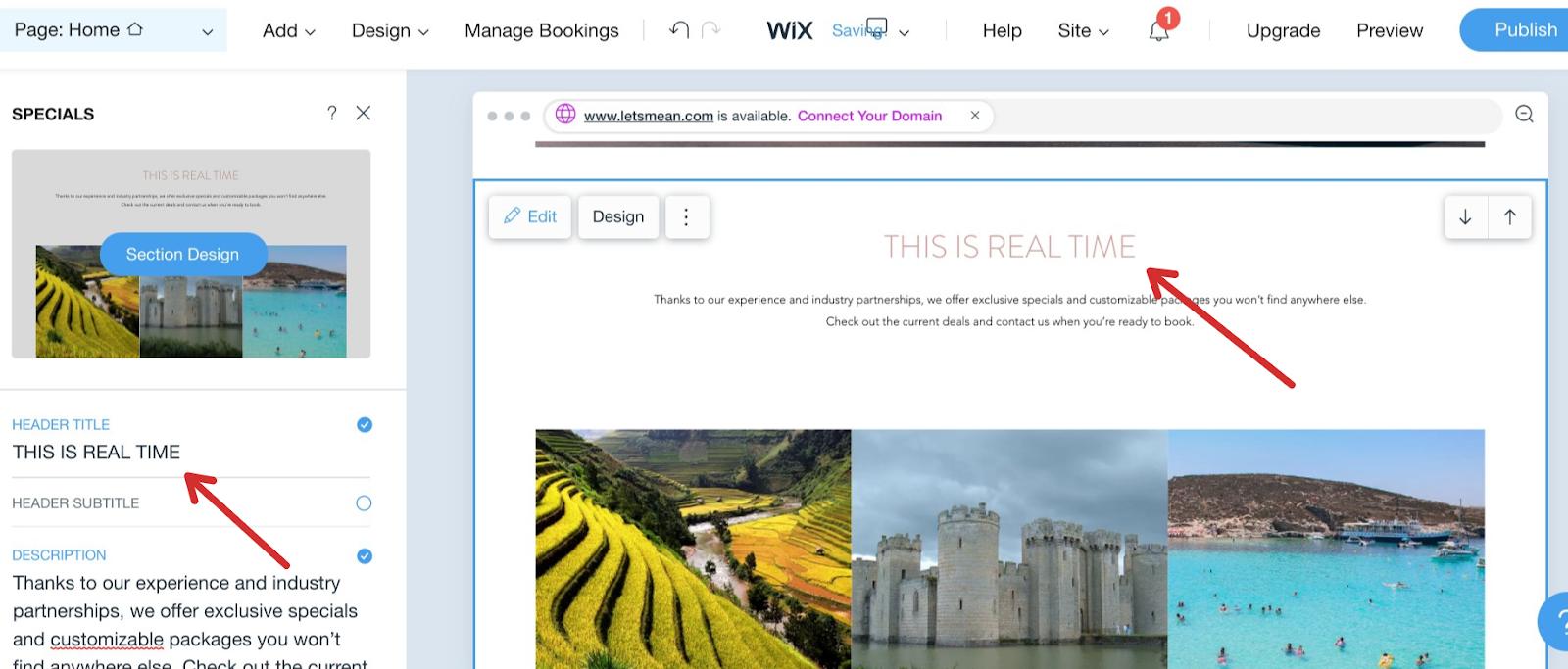 Adding Content in Wix
