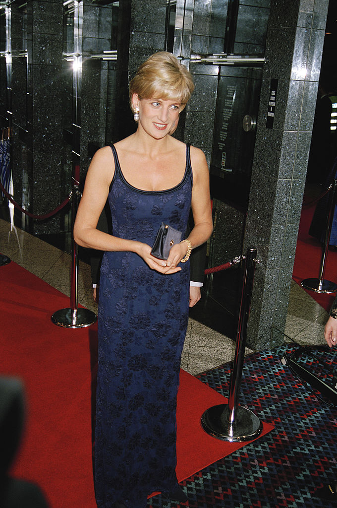 Diana, Princess of Wales attends the London premiere of 'In Love and War' at the Odeon Leicester Square, 12th February 1997