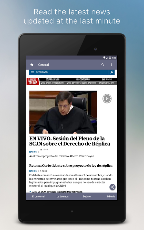 Mexican Newspapers- screenshot
