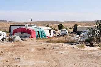 Photo: Several times the tents were demolished by the Israeli army. Now they are allowed, but it is forbidden to build new tents.
