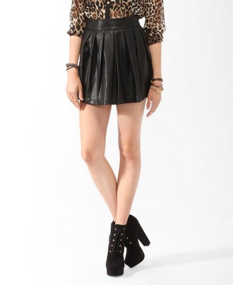 Photo: Pleated Faux Leather Circle Skirt $22.80 http://bit.ly/ODUagk