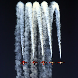 5 for the Ride by Chuck Kuhn - Transportation Airplanes ( flying, five, airplanes, canadian, redbirds, , air, transport )