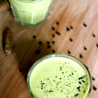 Turmeric Banana Black Pepper Smoothie With Coconut Milk.