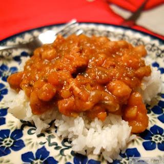 Acorn Squash, Chick Pea and Chicken Faux-roccan Stew