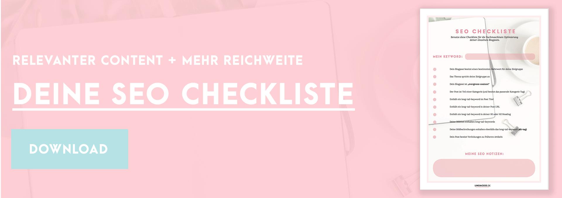 Blog schreiben Checkliste downloaden