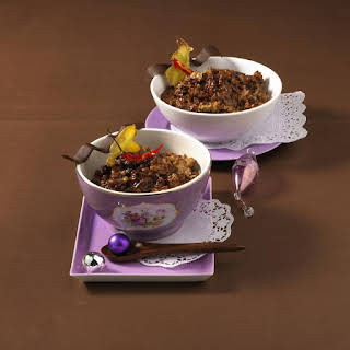Rice Pudding with Chocolate, Chili and Ginger.